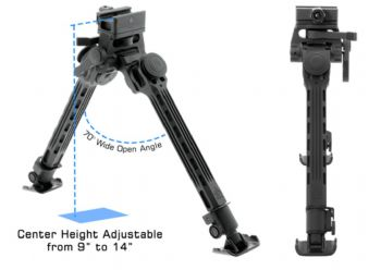 "Leapers UTG Big Bore Full Stability Bipod 9-14"" 228-355mm TL-BPFS01-A"